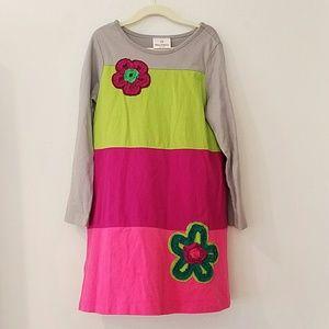 HANNA ANDERSSON Girls Colorblock Dress 120 cm /7-8